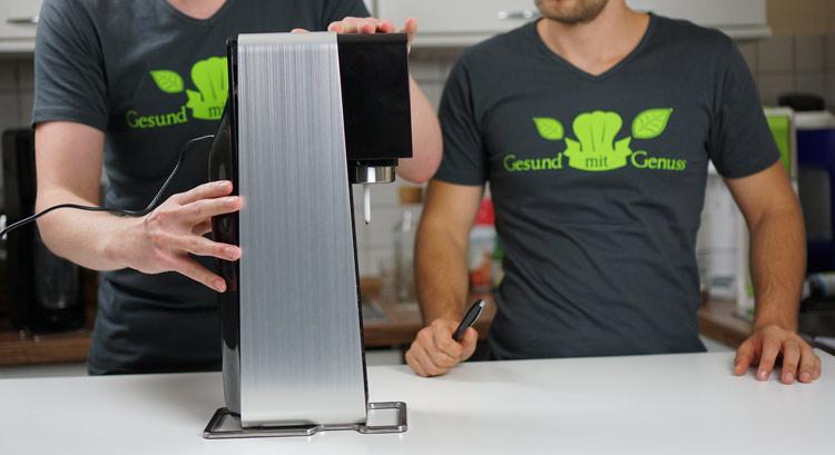 SodaStream elektrisch Seitenansicht