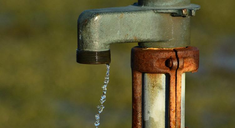 Rostige Wasserleitung