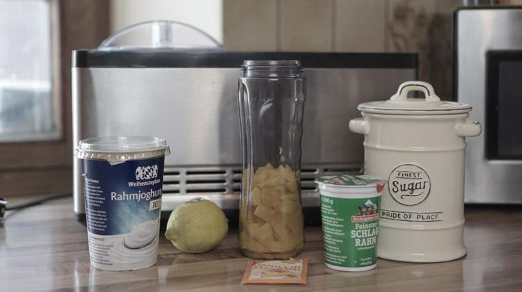 Zutaten für Mangoeis