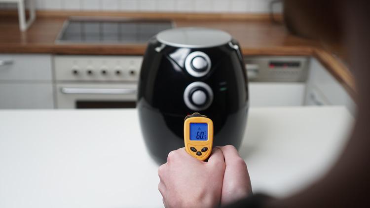 Heissluftfritteuse-Temperatur