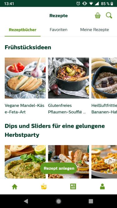 Philips-Actifry-Rezeptapp